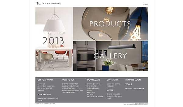 Tech Lighting Retools Website