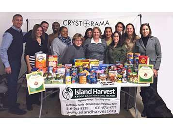 Crystorama Holds A Food Drive On Behalf Of Island Harvest