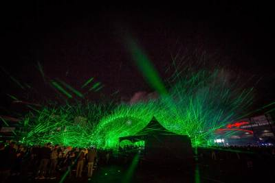 Green Laser World Record Light Show