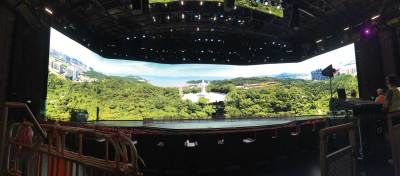 MGM Cotai Building the Video Screen