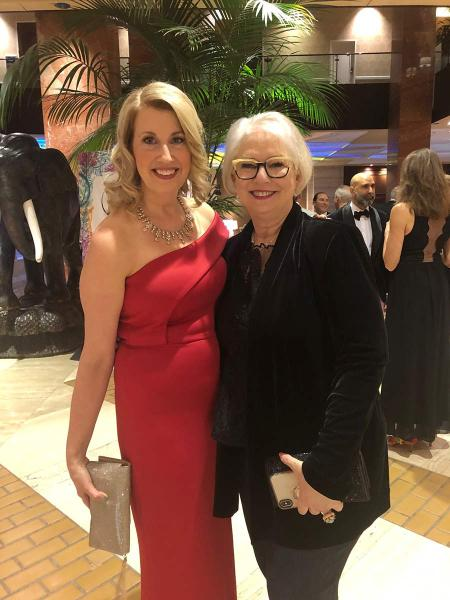 Dallas Market Center's Laura Van Zeyl (left) with President of The Kaleidoscope Partnership + Savour Partnership Leslie Carothers.