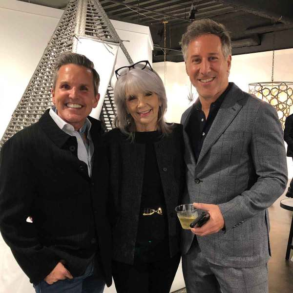 L to R: Interior designer Dann Foley, ART President Sharon Davis and interior designer Daniel Penciner during the ARTS Awards Preview Party
