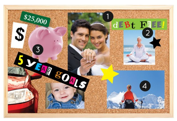 old fashioned vision board
