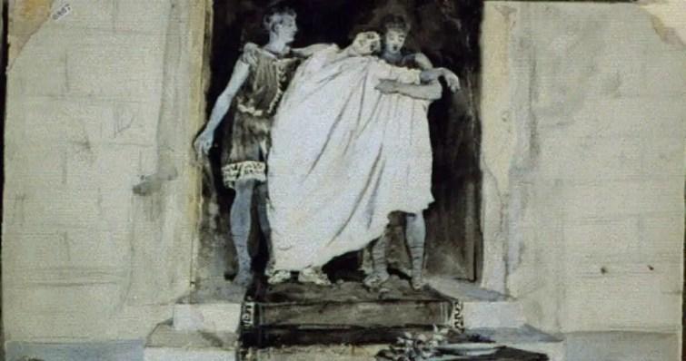«Կույր Էդիպի ողբը. Oh, որքա՜ն եմ ես թշվառ»: Ալֆրեդ Բրեննան (Կոնգրեսի գրադարան)