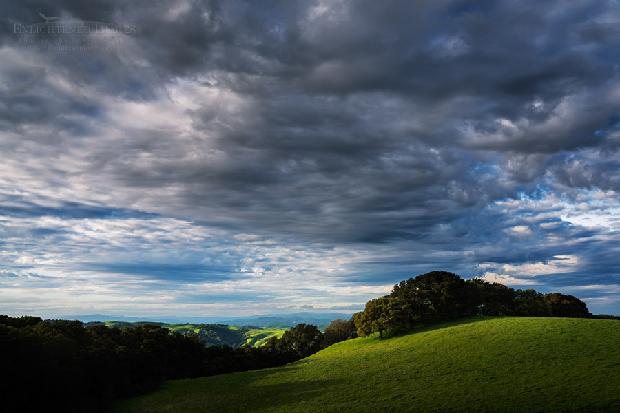 Photo: Clouds over the Briones Crest, Briones Regional Park, Contra Costa County, California