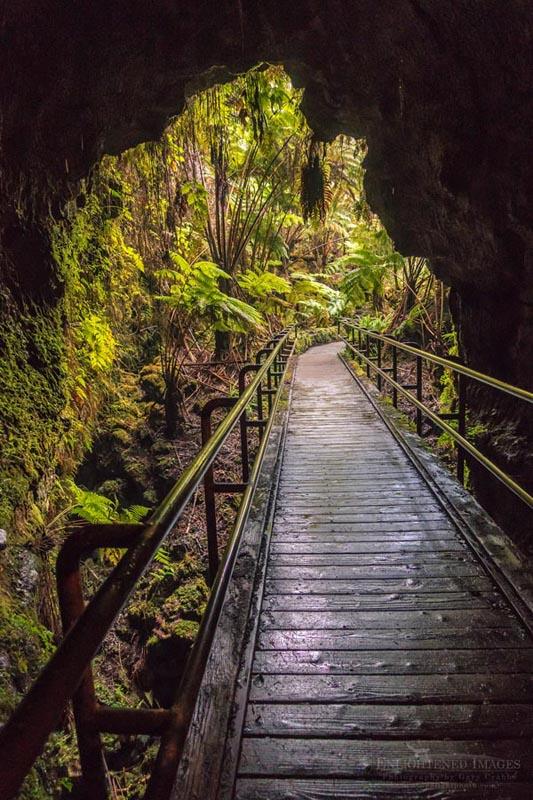 Photo: Entrance to the Thurston Lava Tube, (Nāhuku) Kilauea Volcano, Hawai'i Volcanoes National Park, The Big Island, Hawaii