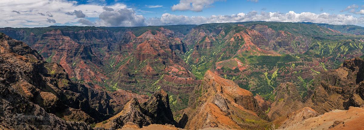 Photo: Panorama of Waimea Canyon, Waimea Canyon State Park, Kauai, Hawaii