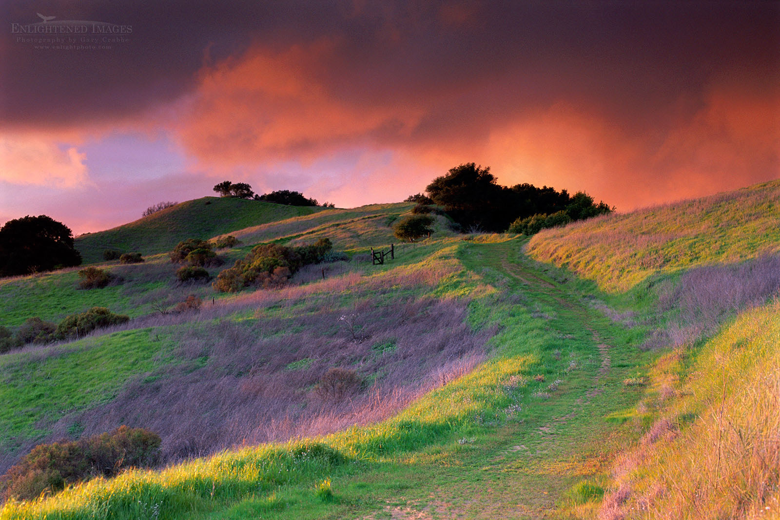 Photo: Stormy sunset in the hills above Lafayette Contra Costa County, California