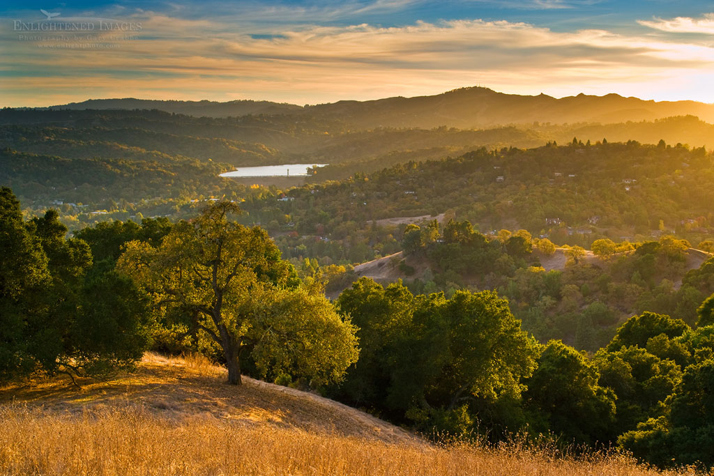 Photo: Sunset in the hills above Lafayette, Briones Regional Park, Contra Costa County, California