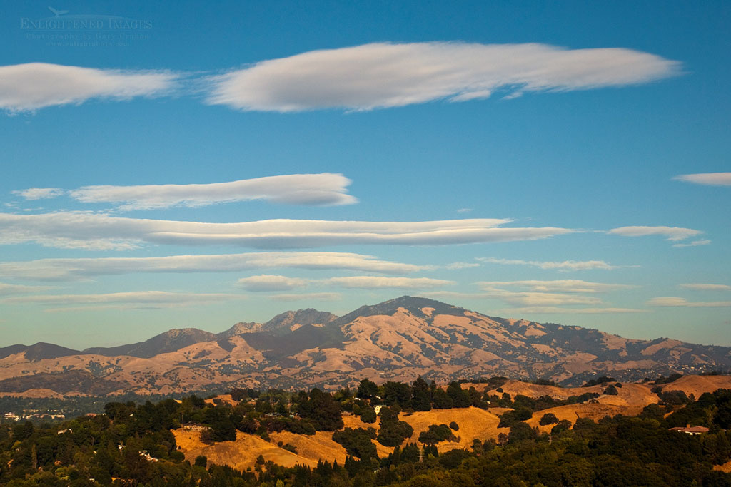 Photo: Lenticular clouds over Mount Diablo; as seen from Lafayette; California