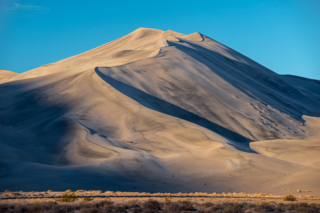 Photo: 600'-tall Eureka Sand Dune, Eureka Dunes, Death Valley National Park, California
