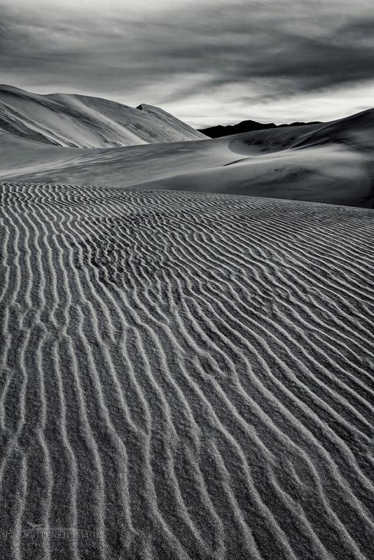 Photo: Windblown sand pattern in sand dune at Eureka Dunes, Death Valley National Park, California