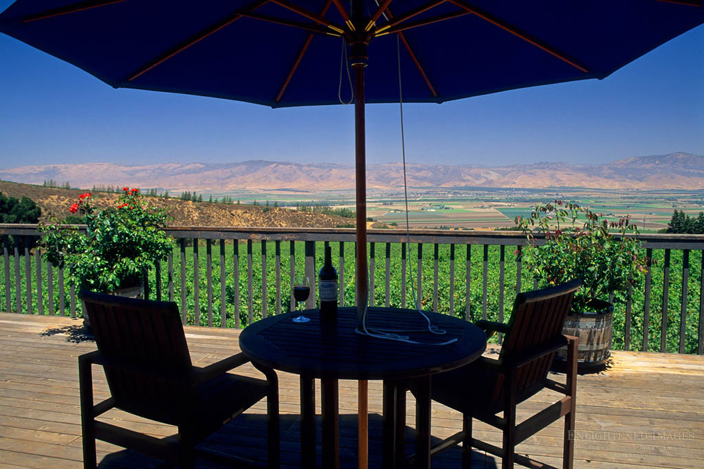 Photo: View from the deck of Hahn Estates / Smith & Hook Winery, Salinas Valley, Monterey County, California