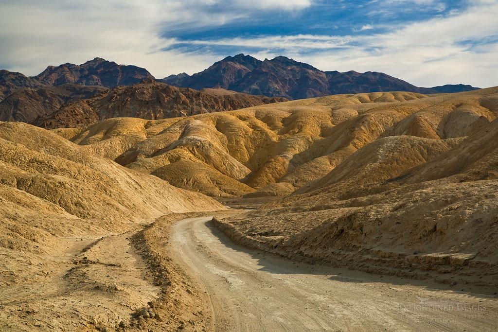 Photo: Dirt road through Twenty Mule Team Canyon, Death Valley National Park, California