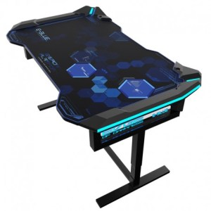 E Blue RGB Glowing PC Gaming Desk 2 0   Micro Data BR En Ligne E Blue RGB Glowing PC Gaming Desk 2 0