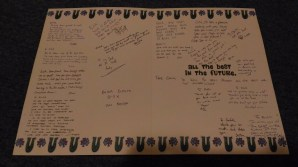 Farewell Card awesome hand writing