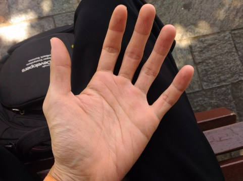 My left hand after 2 weeks working