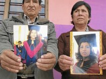 Padres de peruana Erika Soria encontrada en crucero Costa Concordia