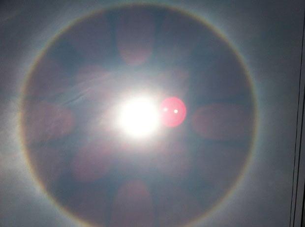 Halo solar sorprendió a limeños