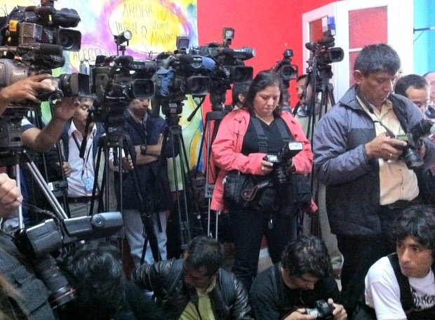 Periodistas en Lima