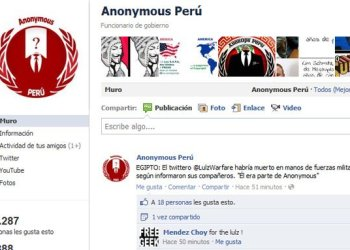 Anonymous Perú desmiente difusión de mensajes de texto del caso Fefer