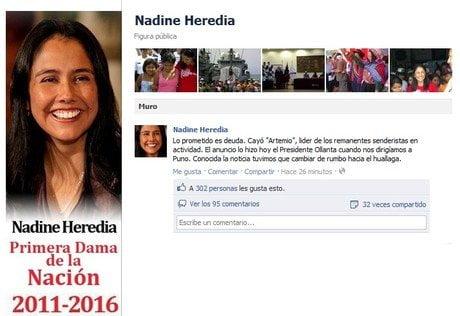 Cuenta Facebook de la Primera Dama