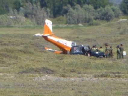 Trágico accidente aéreo en Pisco (Referencial)
