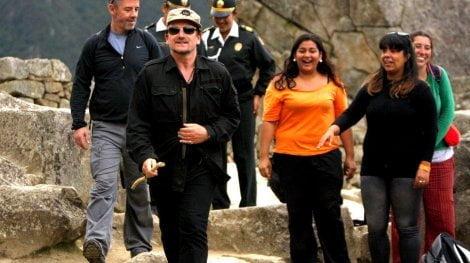 Bono en Machu Picchu