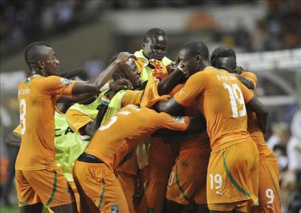 Costa de Marfil celebra su pase a la final en donde jugará contra Zambia