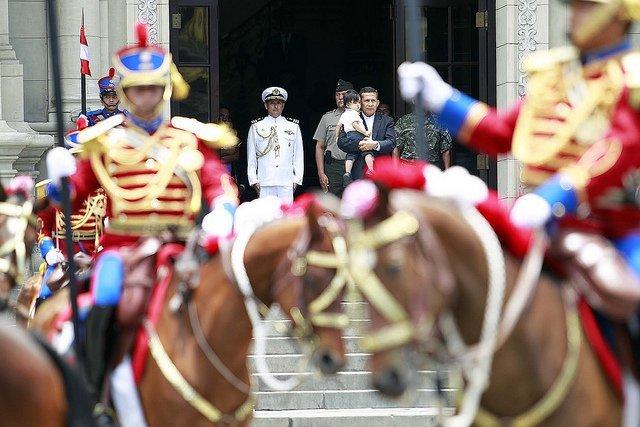 Mandatario Ollanta Humala y Samin Humala Heredia