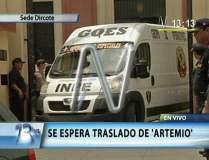 Salida de vehículo blindado que trasladó al terrorista Artemio