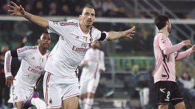 AC Milan goleó 4-0 al Palermo con hat-trick de Ibrahimovic
