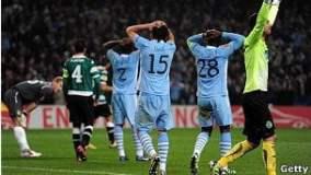 Machester City fue eliminado de la Europa League al igual que el Manchester United