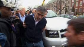 George Clooney detenido (Foto CNN)
