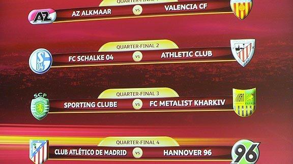 Schalke 04 vs Bilbao en cuartos de final de la Europa League