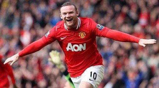 Wayne Rooney llevó al liderato al Manchester United