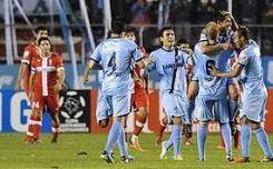 Bolívar celebra su clasificación a octavos de final de la Copa Libertadores