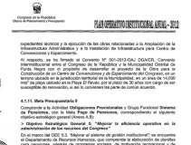 Documento que revela avances de Centro de Convenciones y Recreación