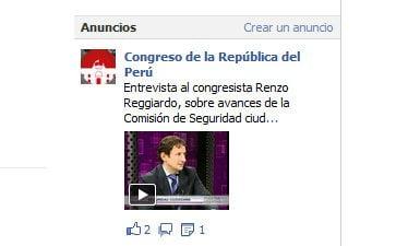 El anuncio del Congreso en Facebook