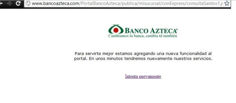 Captura de la web del Banco Azteca