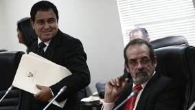 Congresistas Fredy Otárola y Javier Diez Canseco