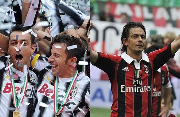 Del Piero e Inzaghi se despidieron de sus respectivos equipos marcando un gol
