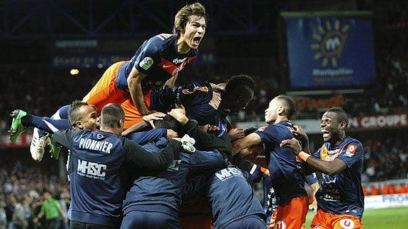 Montpellier logró la Liga del fútbol francés por primera vez en su historia