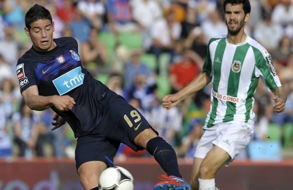 El colombiano James Rodríguez acabo la temporada con el Porto marcando un gol