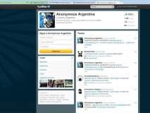 Cuenta Twitter de Anonymous Argentina