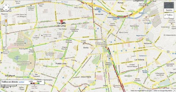 Captura Google Maps 8:13 am