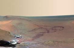 El rover Opportunity muestra una foto panorámica del terreno rojizo de Marte