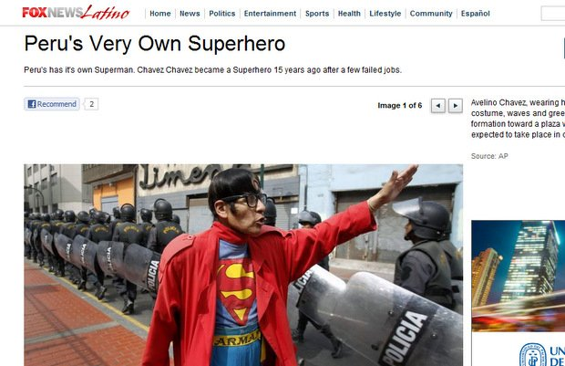 "El Superman ""Cholo"" en Fox News"