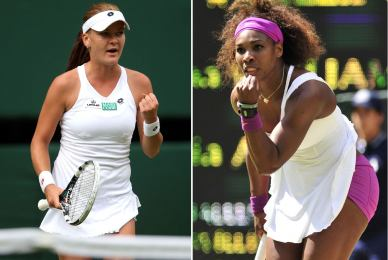 Radwanska y Serena Williams disputarán mañana la final de Wimbledon