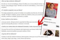 Máximo Laura, texto de entrevista a diario local